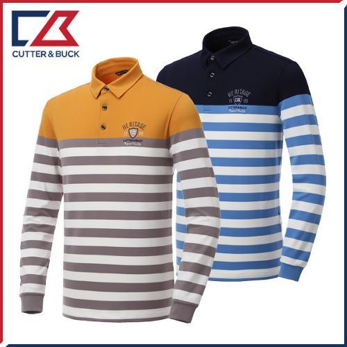 커터앤벅 남성 줄무늬 긴팔티셔츠 - PB-11-193-101-05