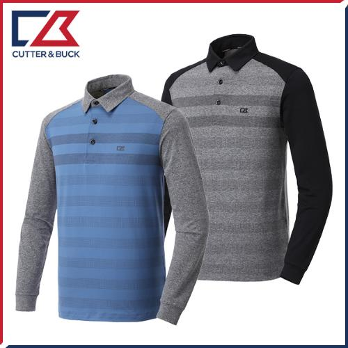 커터앤벅 남성 줄무늬 긴팔티셔츠 - PB-11-193-101-32