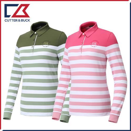 커터앤벅 여성 줄무늬 긴팔티셔츠 - PB-11-193-201-03