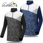 [아놀드파마] 폴리스판 패턴배색 하프넥 남성 긴팔티셔츠/골프웨어_AMW7KH12