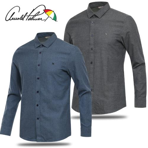 [아놀드파마] 순면 쟈가드 남성 카라넥 긴팔 셔츠/골프웨어_AMW7WS02