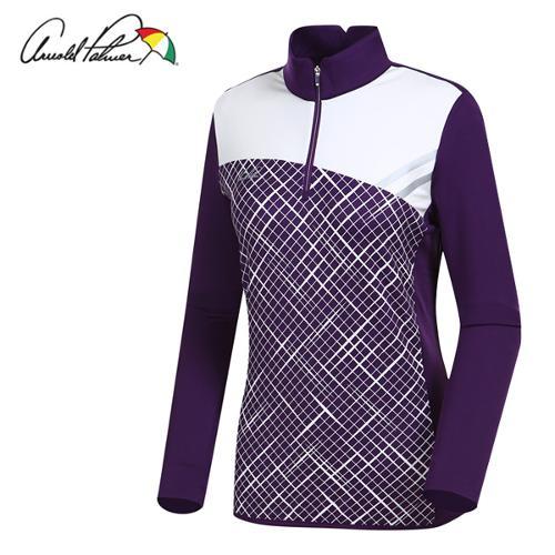 [아놀드파마] 폴리 스판 하프집업 여성 긴팔티셔츠/골프웨어_ALW7KH12