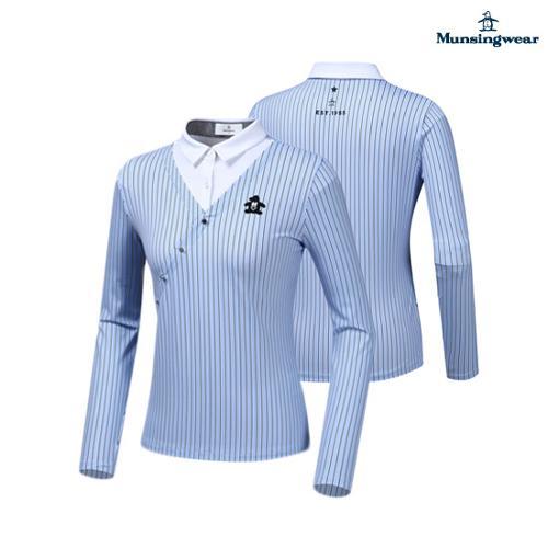 [먼싱웨어] 여성 페이크 레이어링 티셔츠 (M9322LTL95)