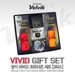 [볼빅] VOLVIK VIVID 비비드 무광 무반사 잘보이는 칼라 골프공 3피스/6알 선물세트