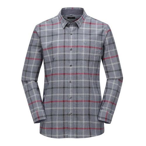 [JACKNICKLAUS] 남성 하운드투스 믹스 체크 셔츠_LNSAA19051GYX