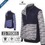 [JEAN PIERRE] 쟌피엘 웨이브 패턴 하프집업 셔츠 Model No_J1-7E065