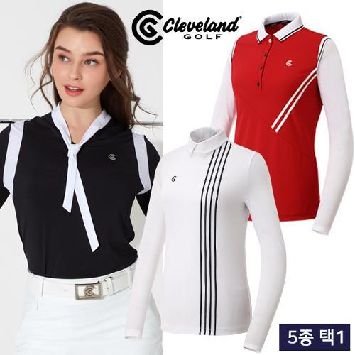 균일 [클리브랜드골프] UV차단/썬가드 여성 긴팔티셔츠 5종 택1/골프웨어_CG244099