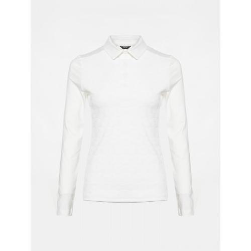 [빈폴골프] [NDL라인] 여성 화이트 자카드 칼라 티셔츠 (BJ9841L451)