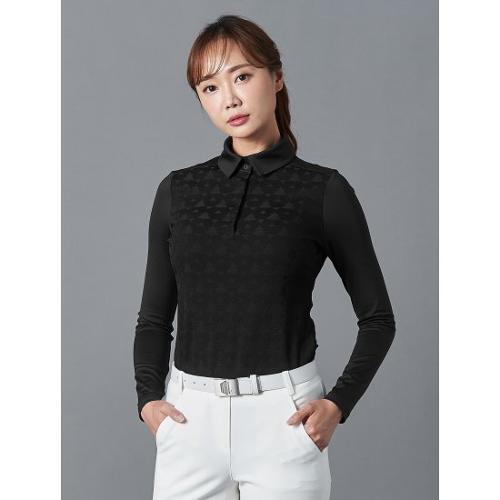 [빈폴골프] [NDL라인] 여성 블랙 자카드 칼라 티셔츠 (BJ9841L455)