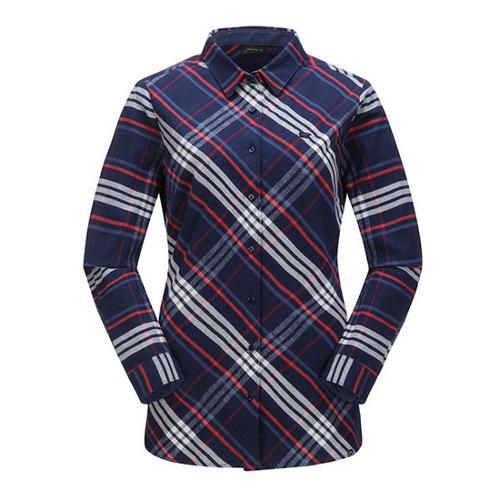 [JACKNICKLAUS] 여성 배색 체크 셔츠_LWSAW18021NYX