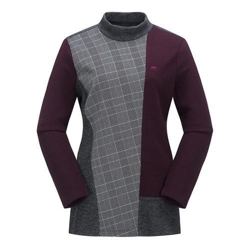 [JACKNICKLAUS] 여성 글렌 체크 블록 티셔츠_LWTAW18091WIX