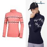 [먼싱웨어] [공식몰 단독 10% 할인]여성 패턴방풍안감 하이넥스웨터 (M9422LSWO3)