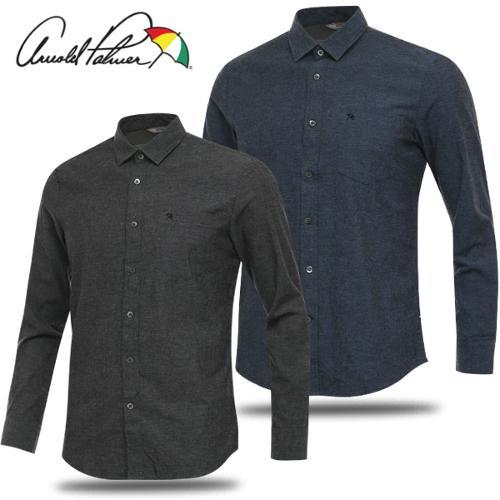 [아놀드파마] 순면 심플 포켓 남성 카라넥 긴팔 셔츠/골프웨어_AMF8WS51