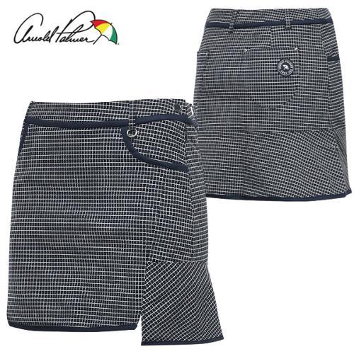 [아놀드파마] 면스판 체크배색 절개 프릴 여성 골프 큐롯/골프웨어_ALF8WQ03