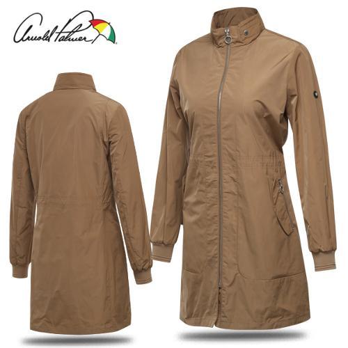[아놀드파마] 허리스트링 포켓지퍼 여성 롱 바람막이 자켓/골프웨어_ALF8WU52