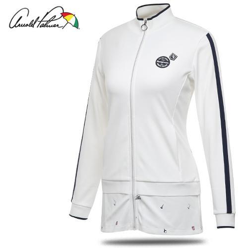 [아놀드파마] 스트레치 소매 배색 라인 여성 집업 자켓/골프웨어_ALF8KC06