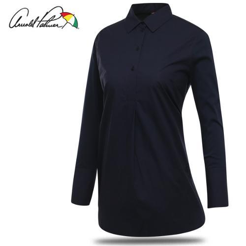 [아놀드파마] 순면 심플 로고자수 여성 카라넥 긴팔 셔츠/골프웨어_ALF8WS52