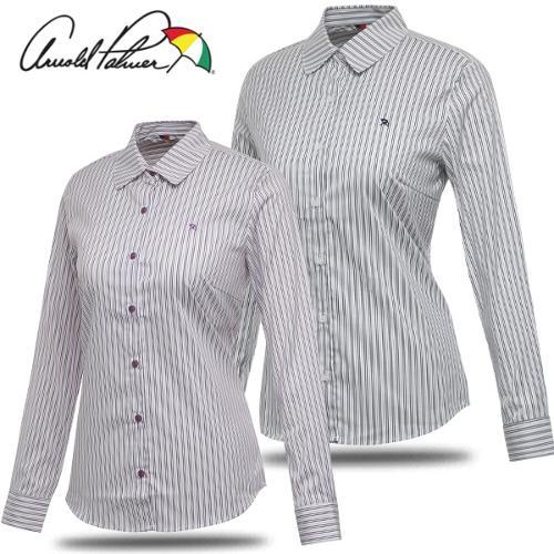 [아놀드파마] 스트레치 투톤 스트라이프 여성 캐쥬얼 긴팔 셔츠/골프웨어_ALF7WS02