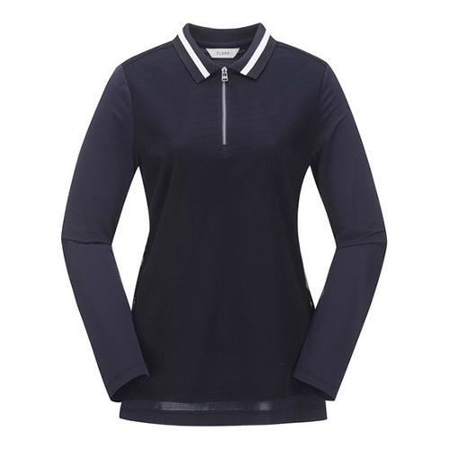 [ELORD] 여성 매쉬 레이어드 반집업 티셔츠_NLTBM19415NYX