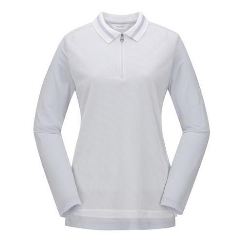 [ELORD] 여성 매쉬 레이어드 반집업 티셔츠_NLTBM19415WHX