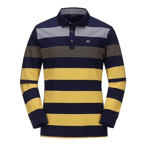 [JACKNICKLAUS] 남성 S/T 믹스 코튼 카라 티셔츠_LNTAS18061YEX