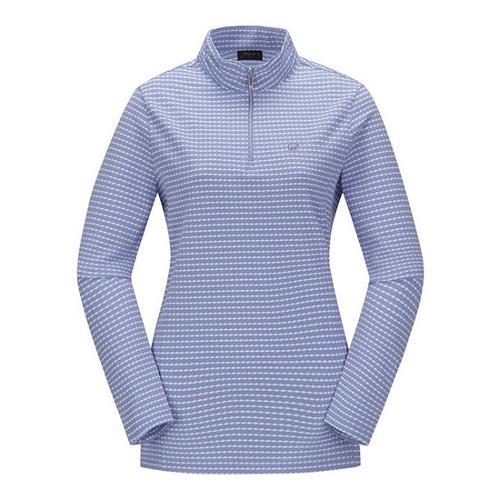 [JACKNICKLAUS] 여성 변형 S/T 반집업 티셔츠_LWTAS18071BUX