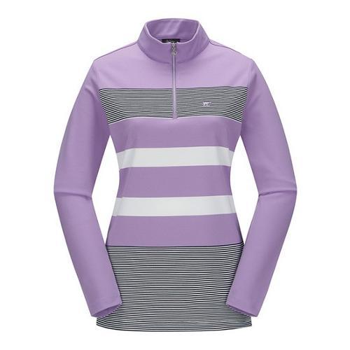 [JACKNICKLAUS] 여성 믹스 S/T 반집업 티셔츠_LWTAS18101PPX