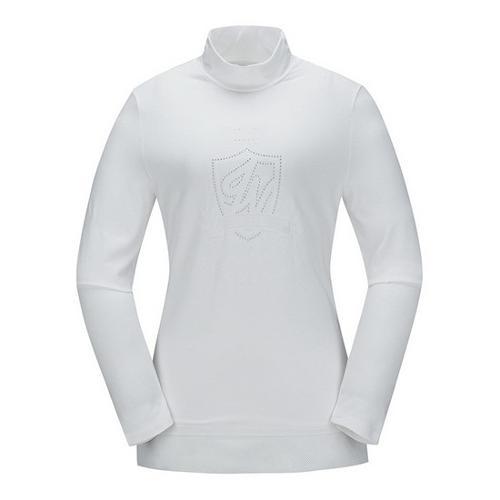 [JACKNICKLAUS] 여성 크라운 스터드 티셔츠_LWTAS18011WHX