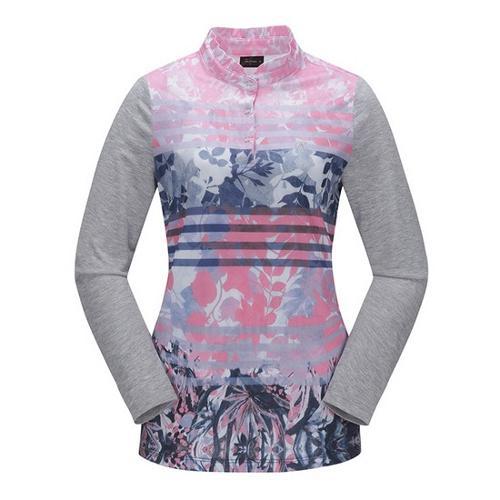 [JACKNICKLAUS] 여성 플라워 나염 티셔츠_LWTAS18081PIX