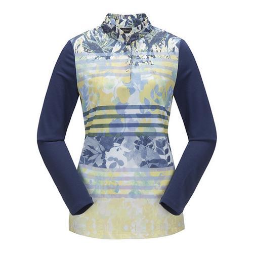 [JACKNICKLAUS] 여성 플라워 나염 티셔츠_LWTAS18081YEX