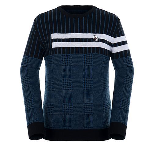 [팬텀]남성 패턴 믹스 울 혼방 스웨터 21183SR114_BK