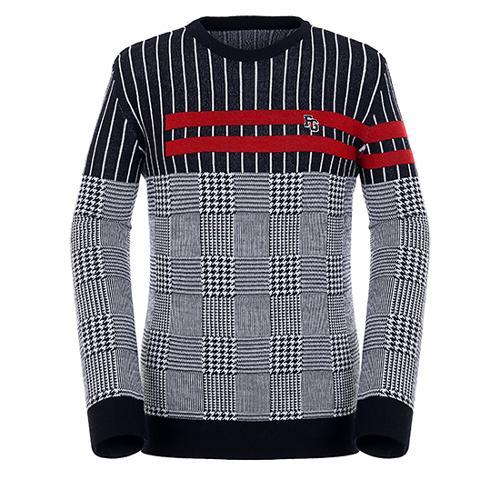 [팬텀]남성 패턴 믹스 울 혼방 스웨터 21183SR114_NA