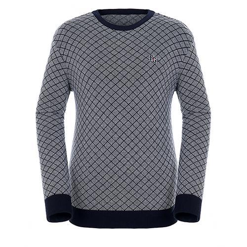 [팬텀]남성 다이아몬드 패턴 코튼 혼방 스웨터 21183SR119_NA