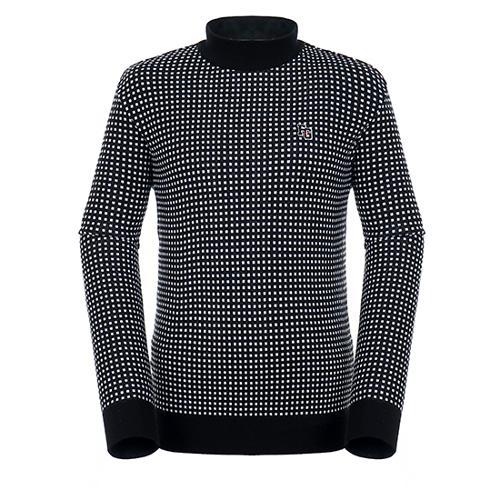 [팬텀]남성 스퀘어 패턴 울 혼방 스웨터 21183SR115_BK