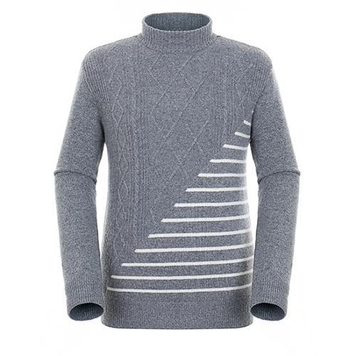 [팬텀]남성 패턴 믹스 방풍 캐시미어 울 스웨터 21183SR117_MG