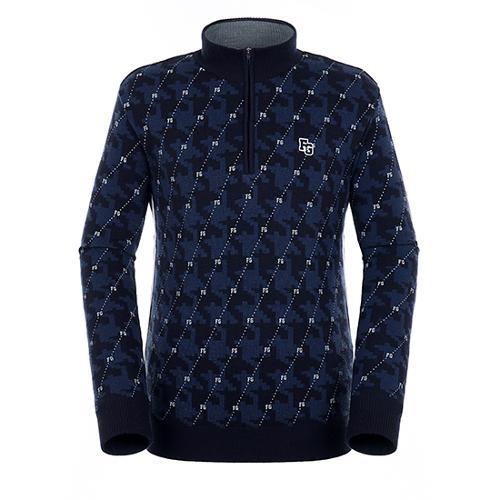 [팬텀]남성 패턴 믹스 반집업 방풍 스웨터 21183SN121_NA
