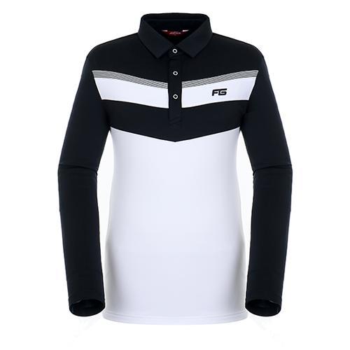[팬텀]남성 컬러 블록 기모 티셔츠 21183TO025_WH