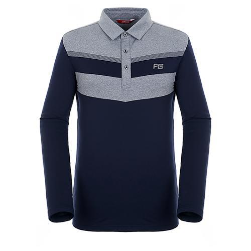 [팬텀]남성 컬러 블록 기모 티셔츠 21183TO025_NA