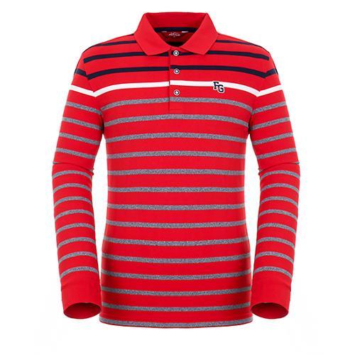 [팬텀]남성 컬러 배색 스트라이프 티셔츠 21183TO031_RE