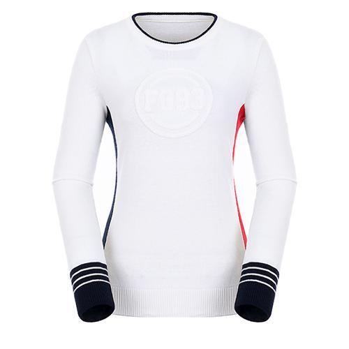 [팬텀]여성 컬러 포인트 울 스웨터 22183SR162_WH