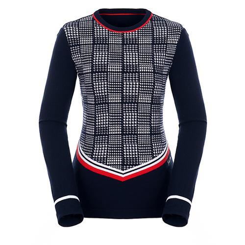 [팬텀]여성 글렌 체크 믹스 스웨터 22183SR164_NA