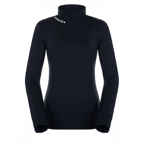 [팬텀]여성 라인 배색 소매 기모 이너 티셔츠 22283TI955_BK