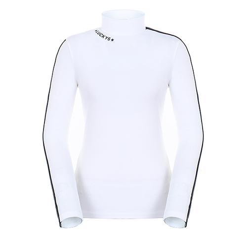 [팬텀]여성 라인 배색 소매 기모 이너 티셔츠 22283TI955_WH