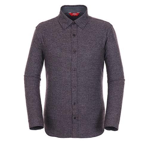 [팬텀]남성 멜란지 체크 버튼다운 셔츠 21183JS501_WN