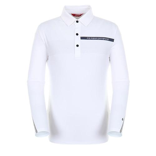 [팬텀]남성 스포티 긴팔 기모 티셔츠 21183TO021_WH