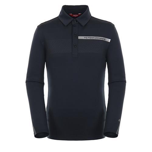 [팬텀]남성 스포티 긴팔 기모 티셔츠 21183TO021_BK
