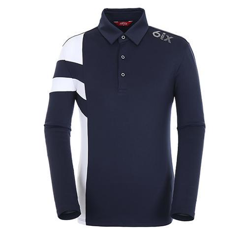 [팬텀]남성 스트라이프 배색 기모 티셔츠 21183TO023_NA