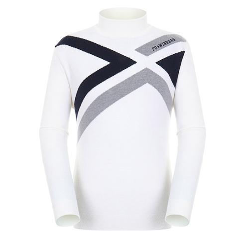 [팬텀]남성 컬러 라인 포인트 울 스웨터 21183SR111_IV