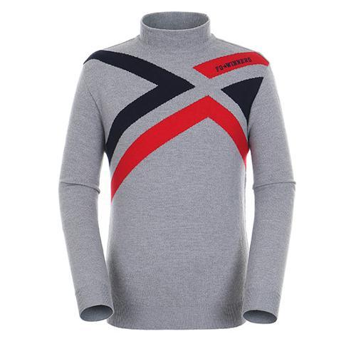 [팬텀]남성 컬러 라인 포인트 울 스웨터 21183SR111_MG