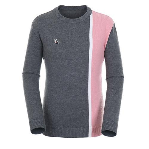 [팬텀]남성 컬러 블록 울 스웨터 21183SR112_DG